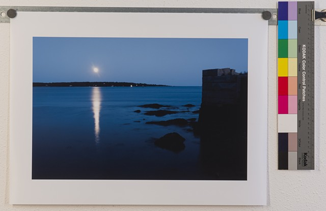 """Moon Rise Over Casco Bay"" edition of 3"