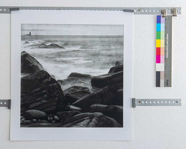 """Ram Island Ledge Light"" study, 3rd in triptych"