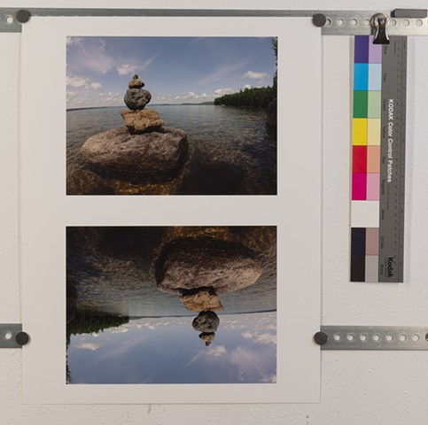 """Stones in Grand Lake, Maine"" edition of 2, currently uncut"