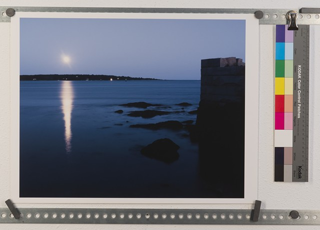 """Moon Rise Over Casco Bay"""