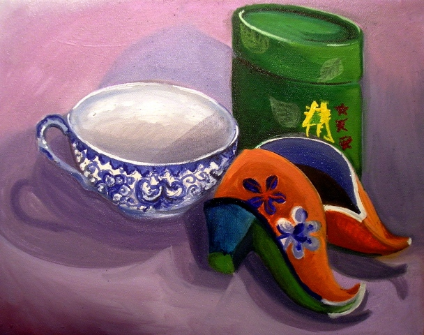 Lotus Slippers and Green Tea