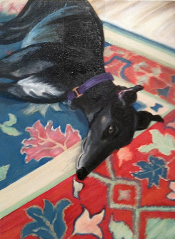 Leon- retired greyhound- at rest