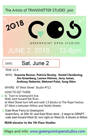 Greenpoint Open Studios   Sat. June 2   12 -6pm