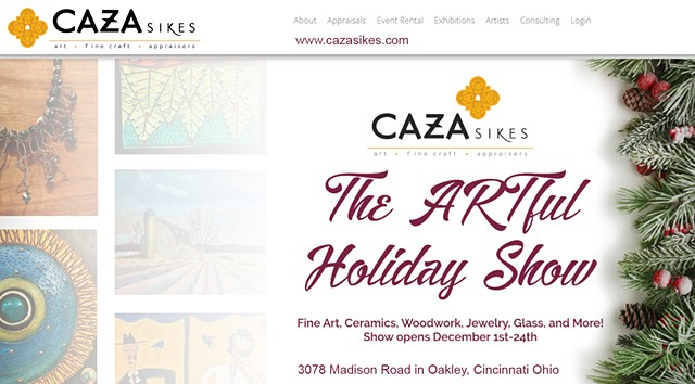 """Caza Sikes  Gallery """"Artful Holiday Show 2017"""""""