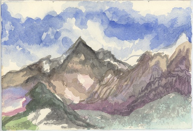 Jungfrau Mt #2- watercolor sketch
