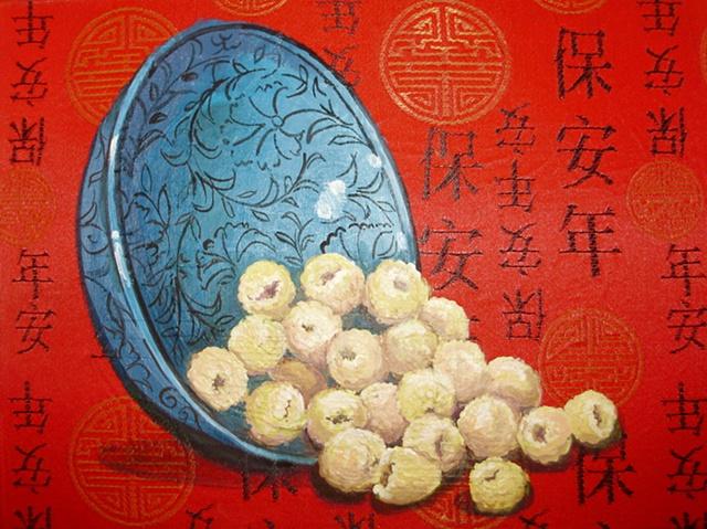 Turkish Bowl with Yellow Raspeberries