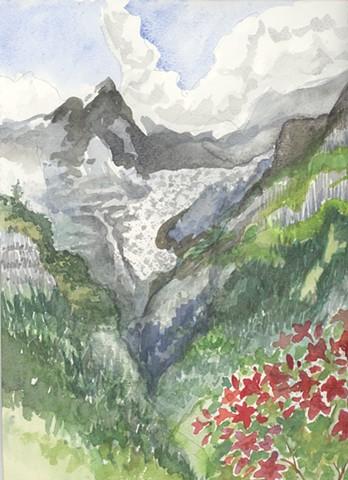 the Glacier on Monch