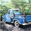Blue Chevy Truck 1956