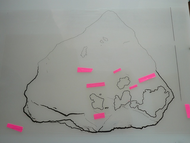Untitled (Eugenite)  Paint Marker on Acetate  11 x 17 Inches  Preparatory Drawing Work in Progress