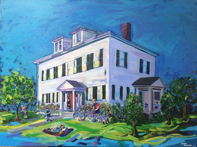 Wellesley painting family house colorful Chelsea Sebastian art color
