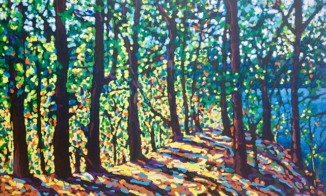 Chelsea sebastian painting trees trail Wellesley lake art