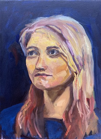 portrait chelsea sebastian blonde woman
