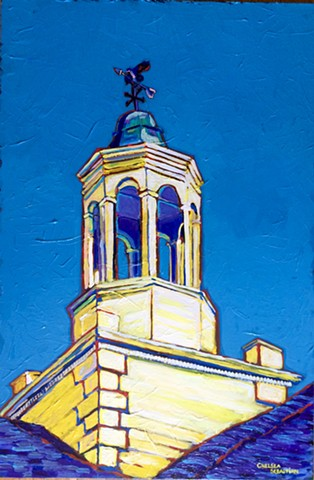 Blue Wellesley Hunnewell cupola color Chelsea Sebastian yellow bird painting art