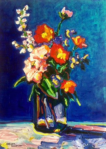 Flowers Chelsea Sebastian painting art color