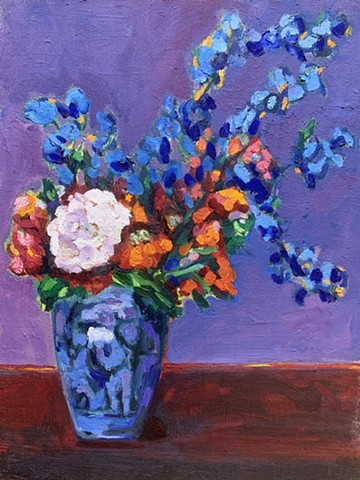 jane petersen chelsea sebastian purple flower vase still life