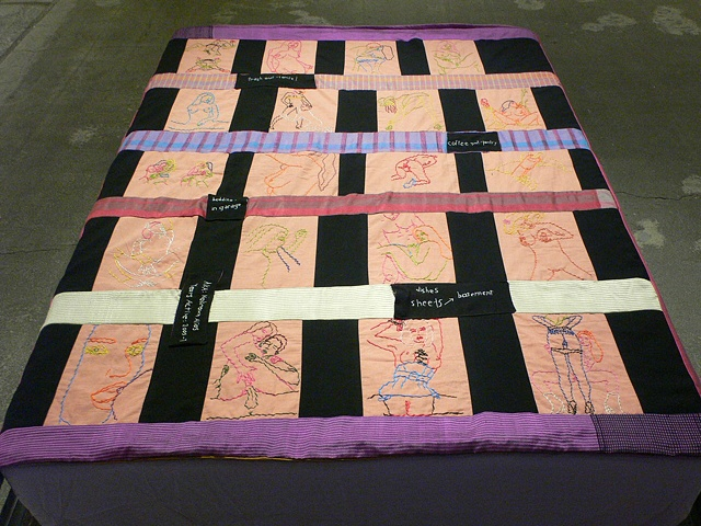 porn quilt embroidered silk