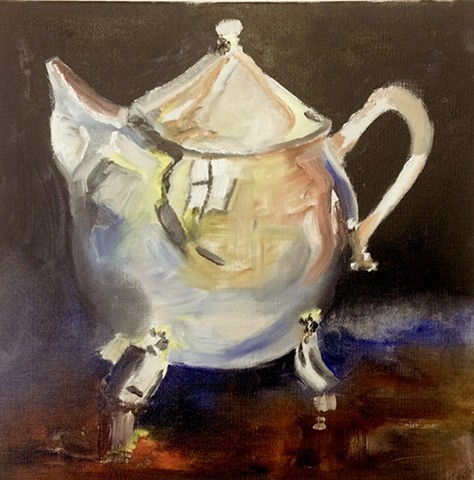Vintage Silver Teapot ... reflecting