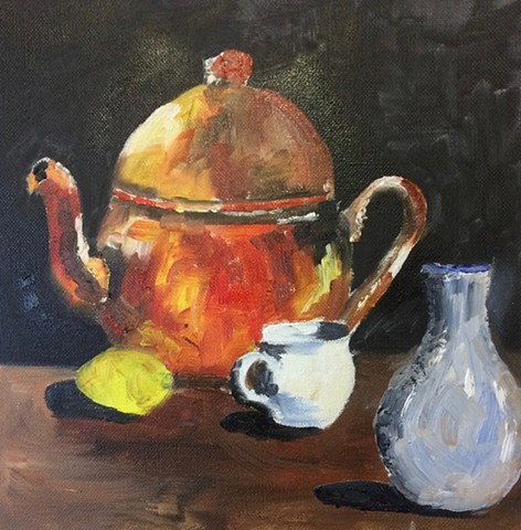 Still Life with Copper Teapot