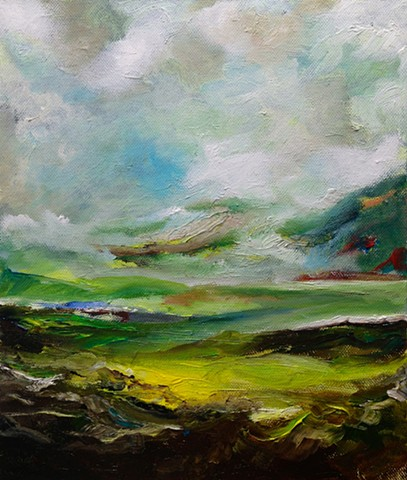 Waterford, Oil Painting, Knockmealdowns,Ireland.