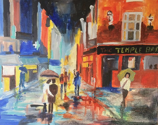 Rainy night in Temple Bar