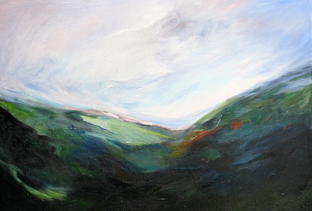 mountains,Ireland Oil Painting