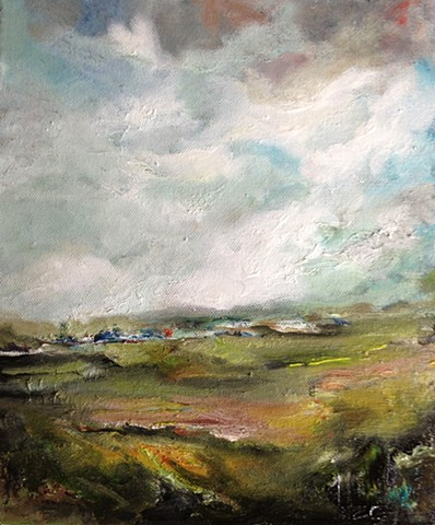 Comeragh Mountains, landscape,oIL painting, ireland, waterford,