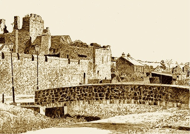 Town Walls Fethard 2 Co. Tipperary Sepia