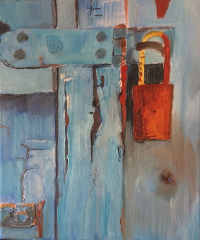 Old Door with Rusted lock 3