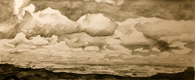 Comeragh Mountains, landscape,Drawing, ireland, waterford,