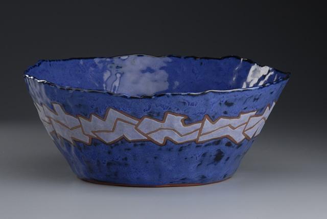 pinch pot bowl ceramics mosaic glaze