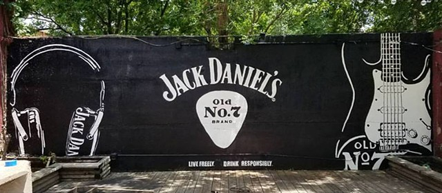 Jack Daniel's Music Mural at Sandaga 813 in Deep Ellum Dallas, Texas.