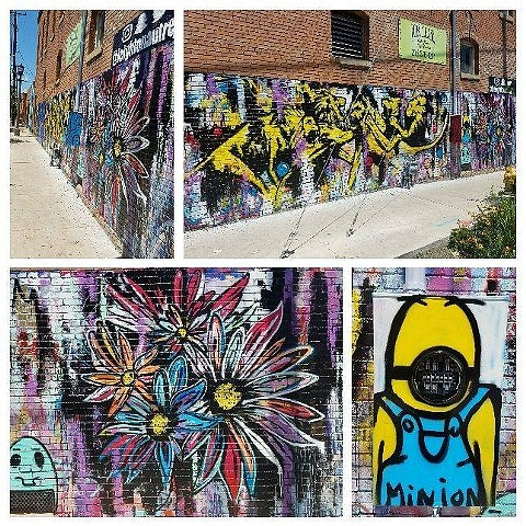 42 Mural Wall in Deep Ellum in Dallas, Texas
