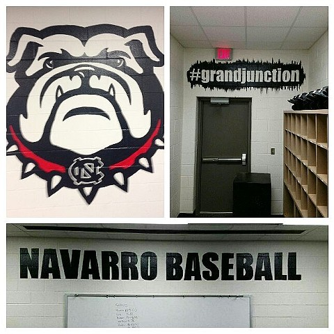 Navarro College Baseball Locker Room