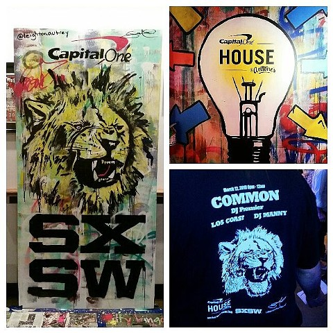 SXSW Austin, Texas. Artwork for Capital One and Common the Rapper.