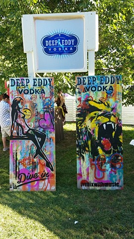 Live Artwork for Deep Eddy Vodka in New York City.