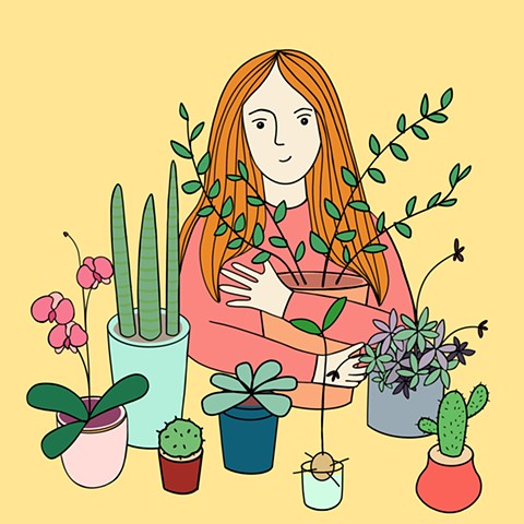 Self Portrait with my plants