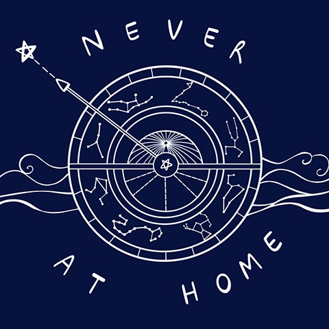 Never at home - logo