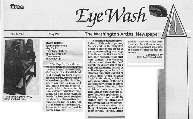 Eye Wash; Vol. 3, No. 9, May 1991