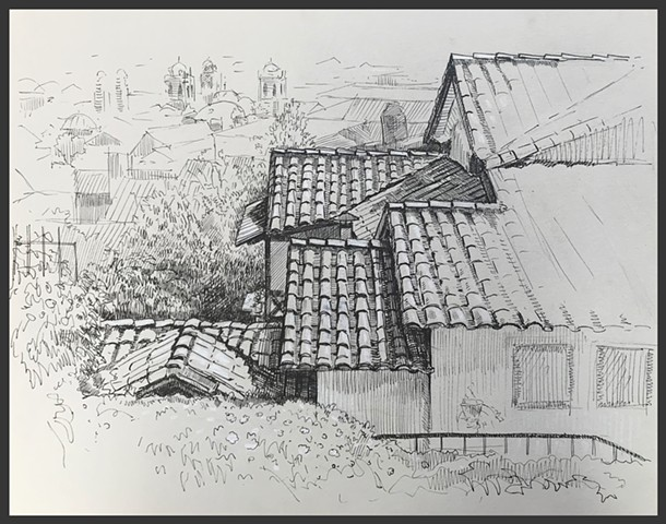 Travel Drawing: Cusco, Peru