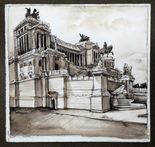 Doug Russell: Travel Drawing Rome Italy