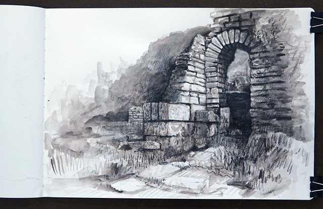 Travel Drawing: Priene, Turkey