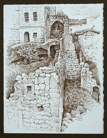 Travel Drawing: Ibrahimpasa, Turkey