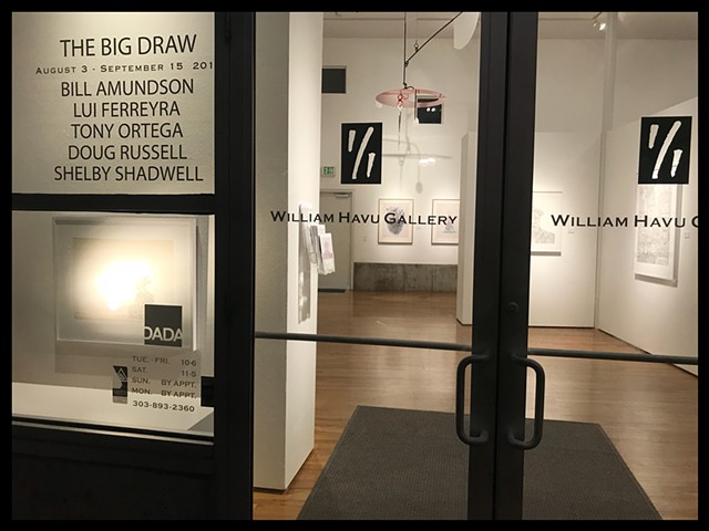 The Big Draw William Havu Gallery Group Drawing Exhibition