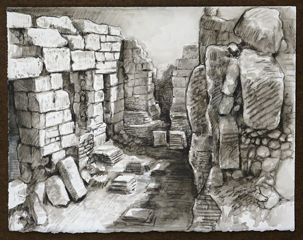 Travel Drawing: Phaselis, Turkey