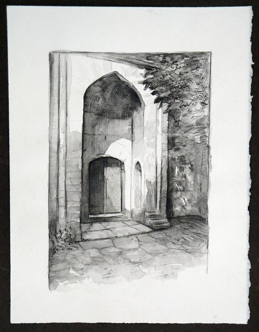 Travel Drawing:  Muradiye, Bursa, Turkey