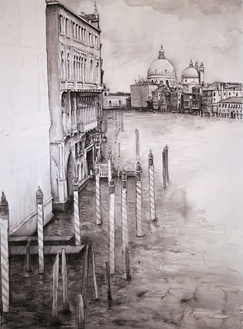 Doug Russell: Travel Drawing Venice Italy
