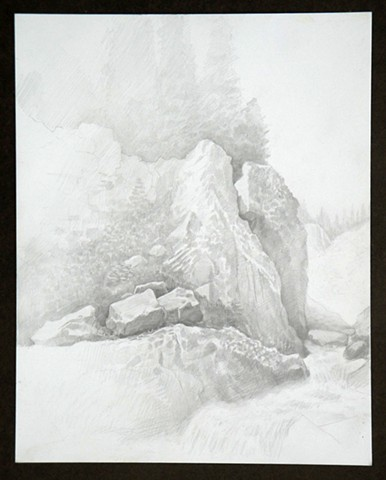 Travel Drawing: Snowy Range, Wyoming