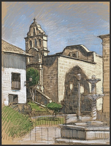 Travel Drawing: Cajamarca, Peru