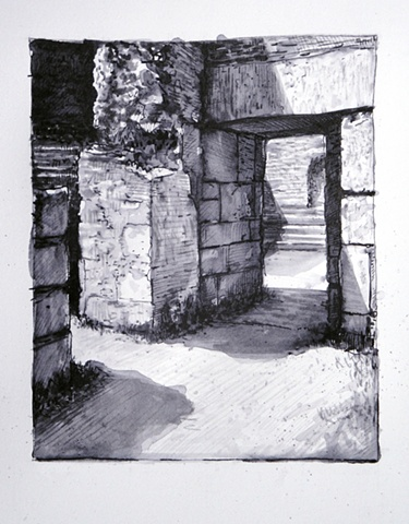 Doug Russell: Travel Drawing Priene Turkey