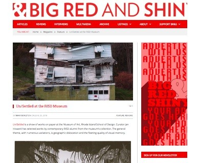 Big Red & Shiny: Un/Settled at RISD Museum